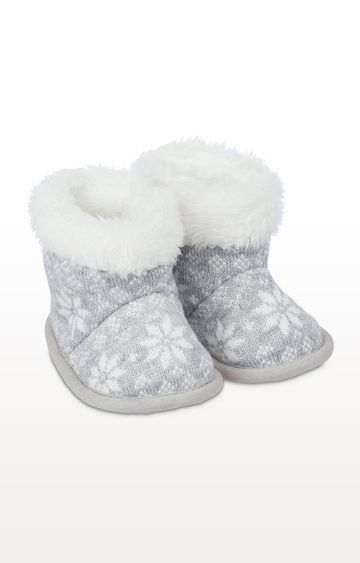 Mothercare | Grey Fairisle Boots