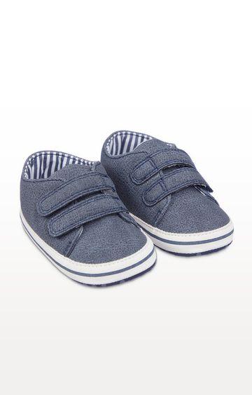Mothercare   Denim Blue Pram Shoes
