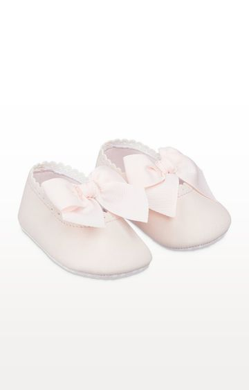Mothercare | Pink Bow Pram Shoes