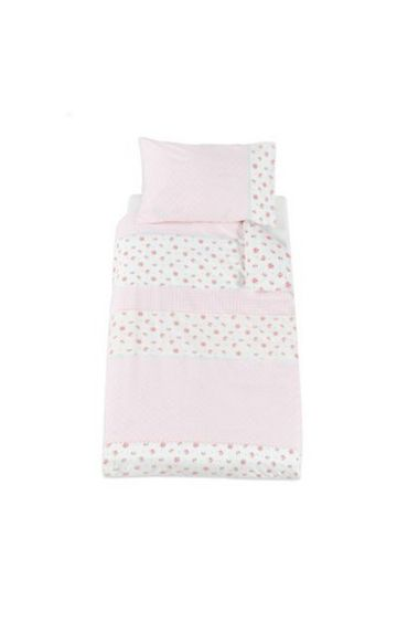 Mothercare | Pink Printed Quilt and Pillow Set
