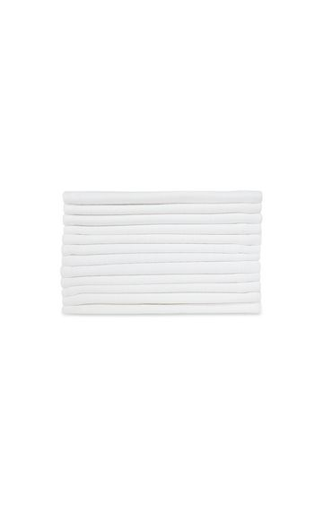 Mothercare | White Muslins - 1 Pack of 2