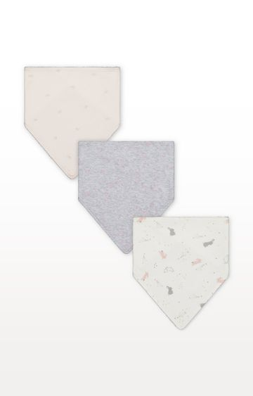 Mothercare | My First Pink Bunny Dribbler Bibs - 3 Pack