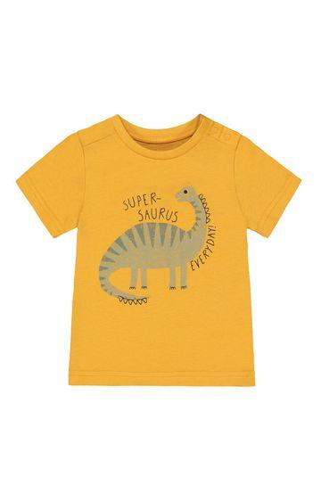 Mothercare   Yellow Printed T-Shirt