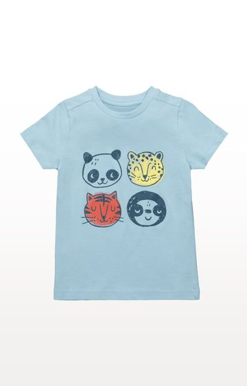 Mothercare | Blue Faces T-Shirt