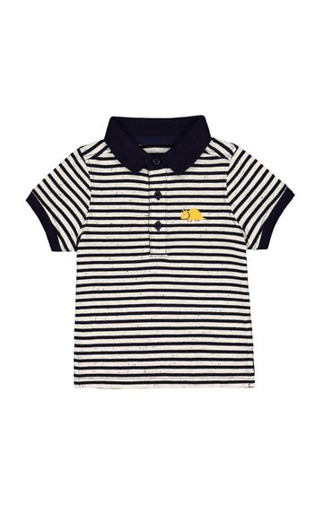 Mothercare | Navy and White Striped T-Shirt
