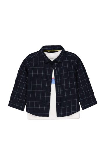 Mothercare | Navy Checked Shirt