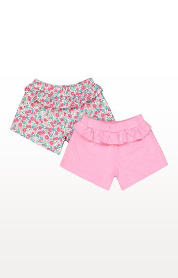 Mothercare | Pink and Floral Shorts - 2 Pack