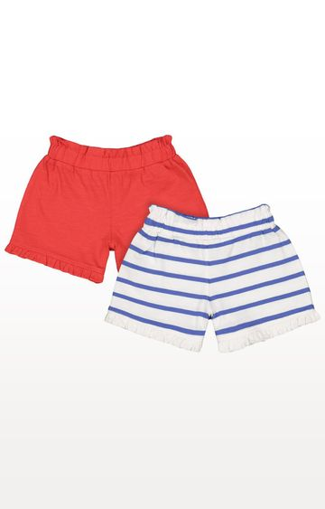 Mothercare | Striped and Red Shorts - Pack of 2