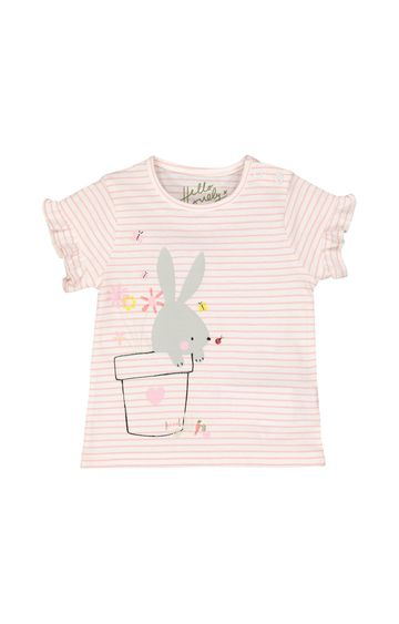 Mothercare | Pink Striped T-Shirt