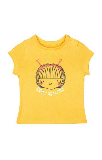 Mothercare | Mustard Printed T-Shirt