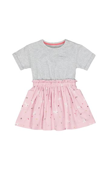 Mothercare | Grey Printed Frock