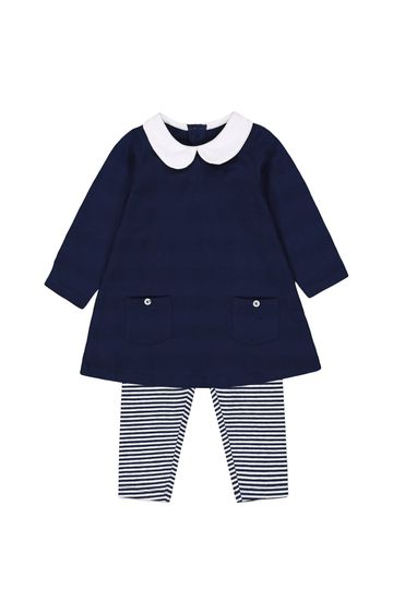 Mothercare | Navy Solid Twin Set