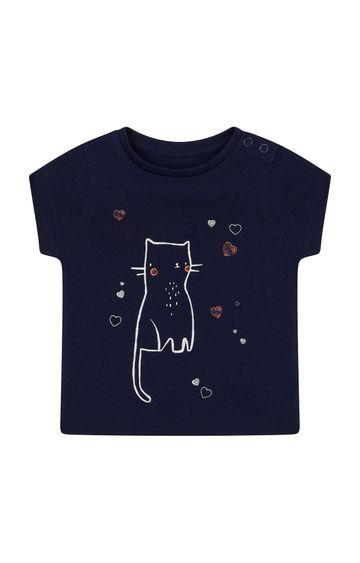 Mothercare | Navy Printed T-Shirt