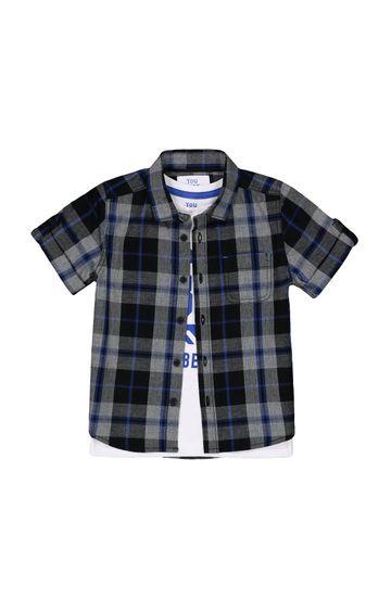 Mothercare   Black Checked Shirt