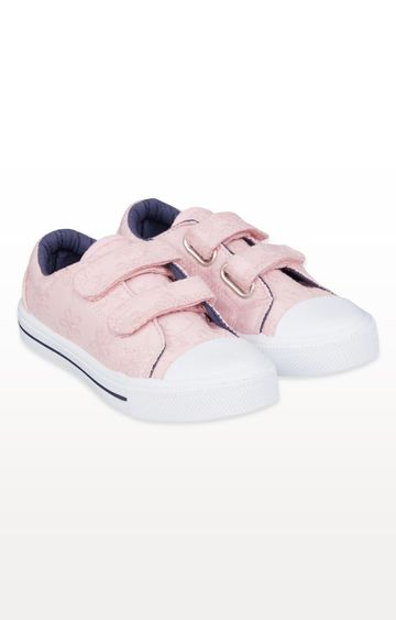 Mothercare | Pink Broderie Canvas Trainers