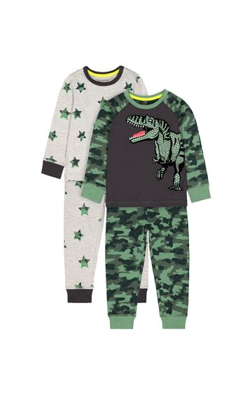 Mothercare | Green Printed Pyjamas - Pack of 2