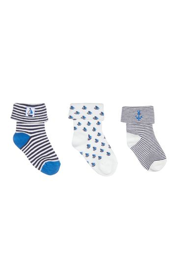 Mothercare | Blue Printed Socks - Pack of 3