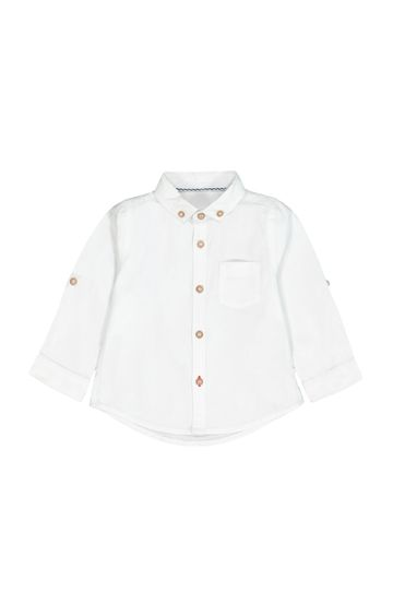 Mothercare | White Solid Shirt