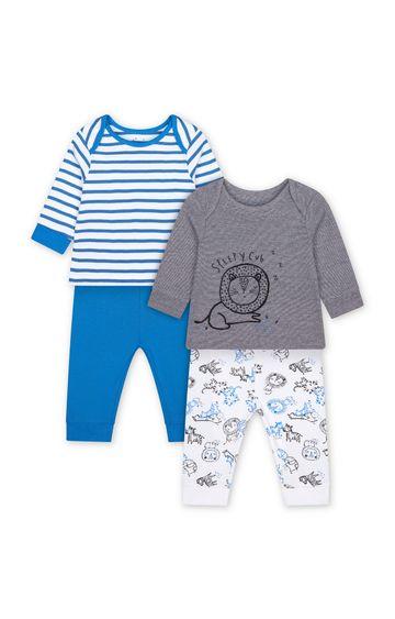 Mothercare | Blue Printed Pyjamas - Pack of 2