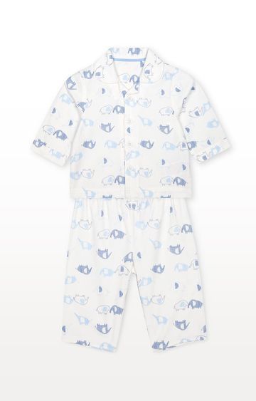 Mothercare | White Printed Nightwear Set