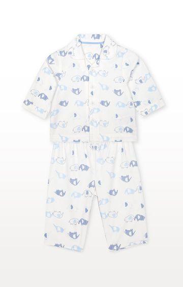 Mothercare | White Printed Nightwear Set