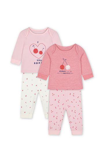 Mothercare | Pink Printed Pyjamas - Pack of 2