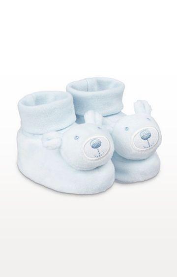 Mothercare | Blue Bear Rattle Socktop Booties