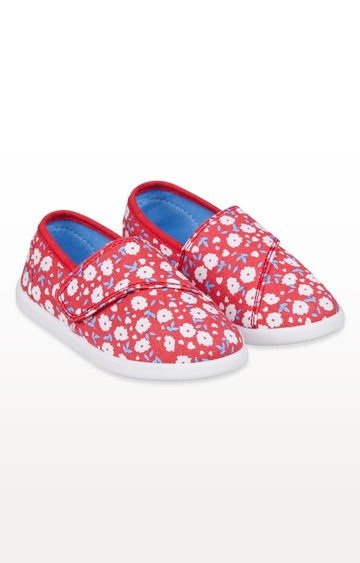 Mothercare | Red Floral Canvas Pumps
