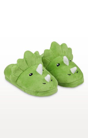 Mothercare | Green Dinosaur Slippers