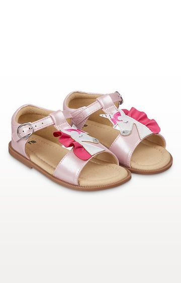 Mothercare | Sparkly Pink Unicorn Sandals