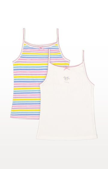 Mothercare | Striped Cami Vests - 2 Pack