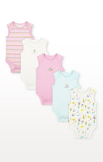 Mothercare   Summer Bodysuits - Pack of 5
