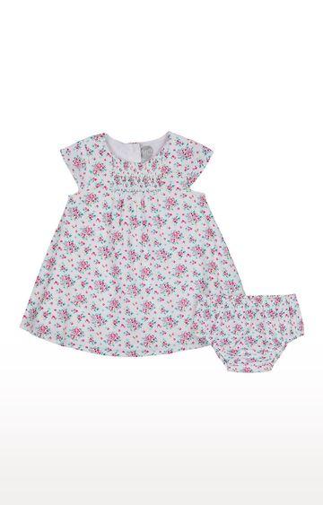 Mothercare | Girls Half Sleeve Casual Dress - Multicoloured