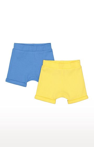 Mothercare   Boys Shorts - Blue and Yellow