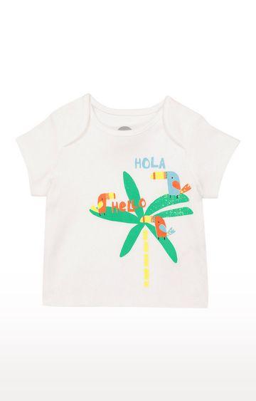 Mothercare | Boys Half Sleeve Round Neck Tee - Printed White