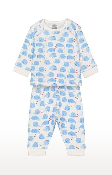 Mothercare | Boys Full Sleeve Pyjama Set - White