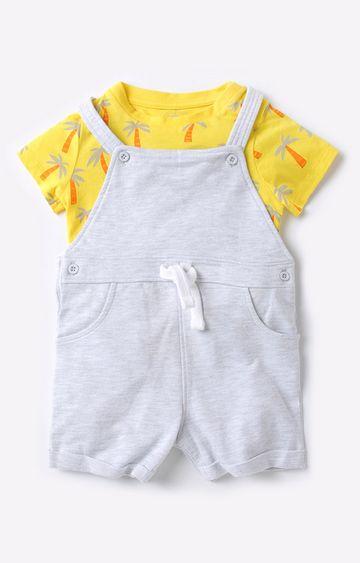Mothercare | Yellow and Grey Boy Dungaree Set