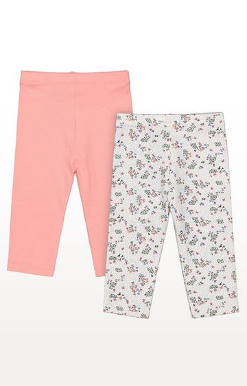 Mothercare | Pink & White Leggings - Pack of 2