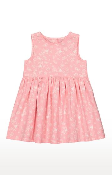 Mothercare | Girls Sleeveless Casual Dress - Printed Pink