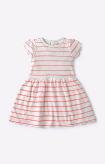 Mothercare   White Striped Dress