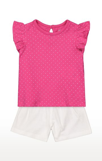 Mothercare | Girls Pink Top and White Shorts