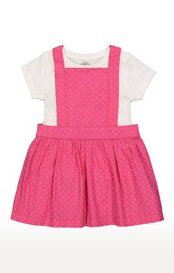 Mothercare | Girls Half Sleeve Casual Dress - White