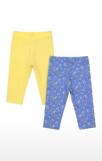 Mothercare | Girls Leggings - Yellow and Blue