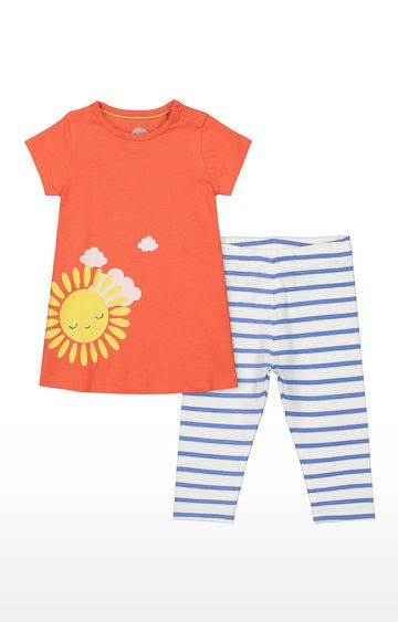 Mothercare   Girls Half Sleeve Pant Set - Multicolored