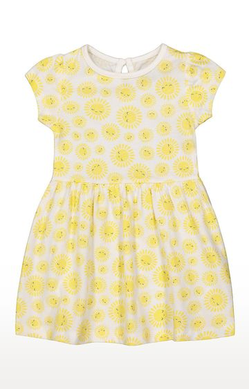 Mothercare | Girls Half Sleeve Casual Dress - Yellow