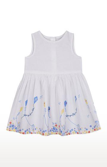 Mothercare | Girls Sleeveless Casual Dress - Printed White
