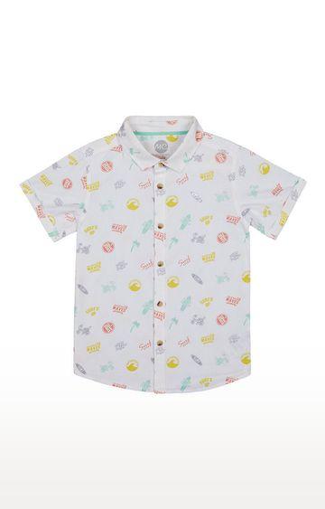 Mothercare | Boys Half Sleeve Shirt - Printed White