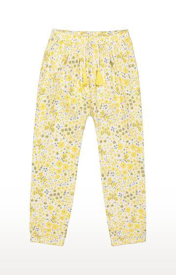 Mothercare | Girls Pants - Printed Yellow