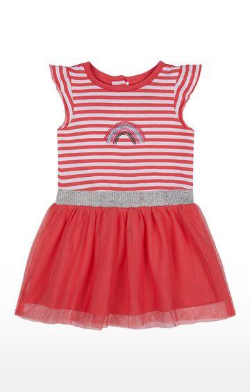 Mothercare | Girls Half Sleeve Partywear - Printed Pink