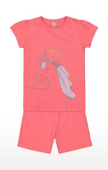 Mothercare | Girls Shortie Set - Pink